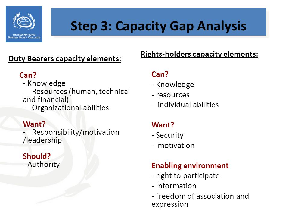 Step 3: Capacity Gap Analysis