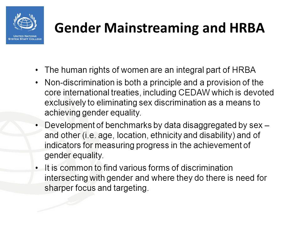 Gender Mainstreaming and HRBA