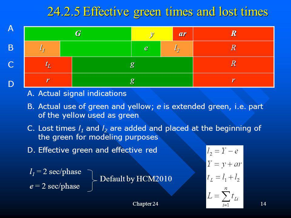 24.2.5 Effective green times and lost times