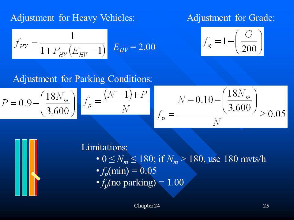 Adjustment for Heavy Vehicles: Adjustment for Grade:
