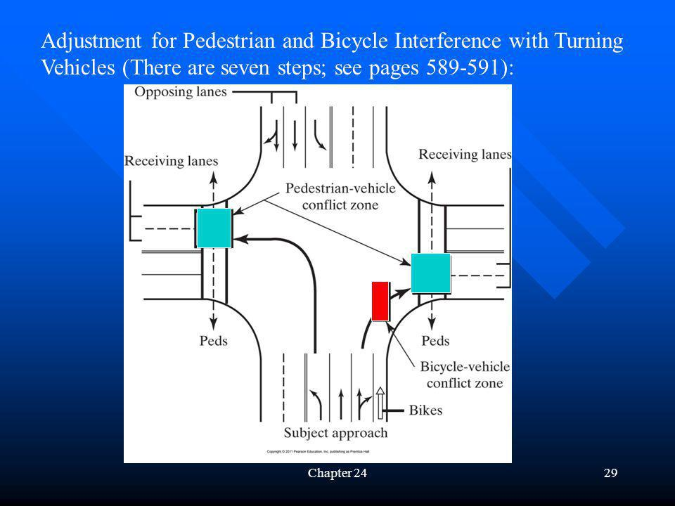 Adjustment for Pedestrian and Bicycle Interference with Turning Vehicles (There are seven steps; see pages 589-591):