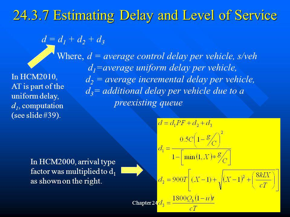 24.3.7 Estimating Delay and Level of Service