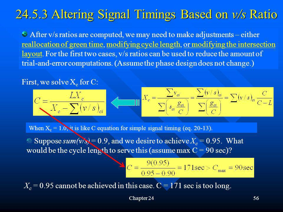 24.5.3 Altering Signal Timings Based on v/s Ratio