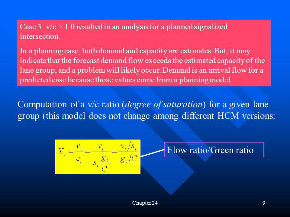 Flow ratio/Green ratio