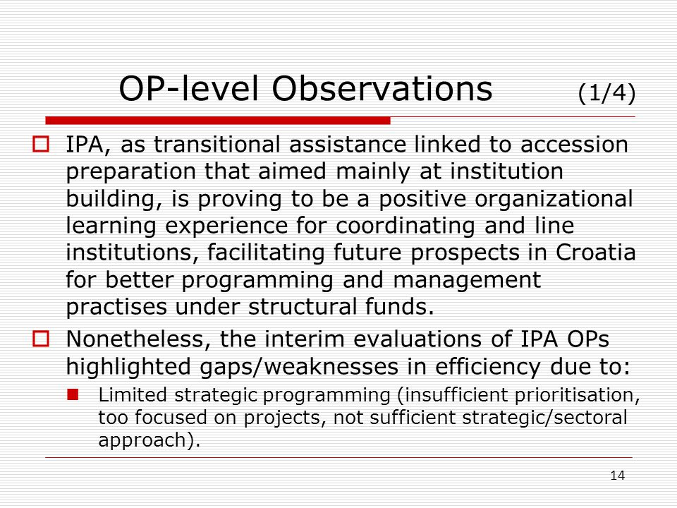 OP-level Observations (1/4)