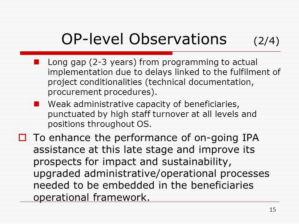 OP-level Observations (2/4)