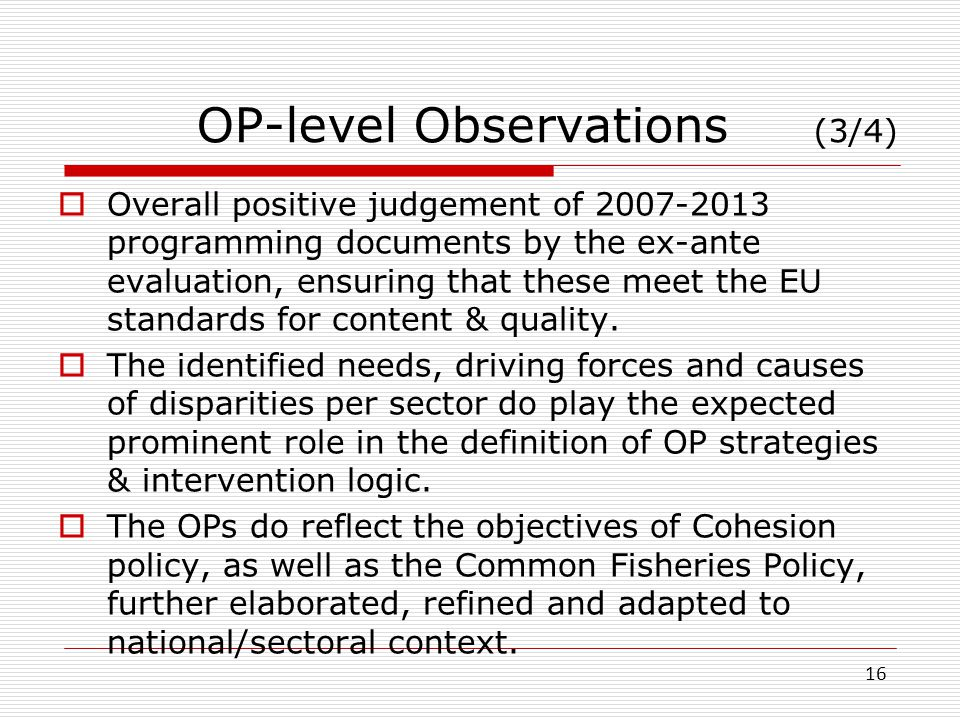 OP-level Observations (3/4)