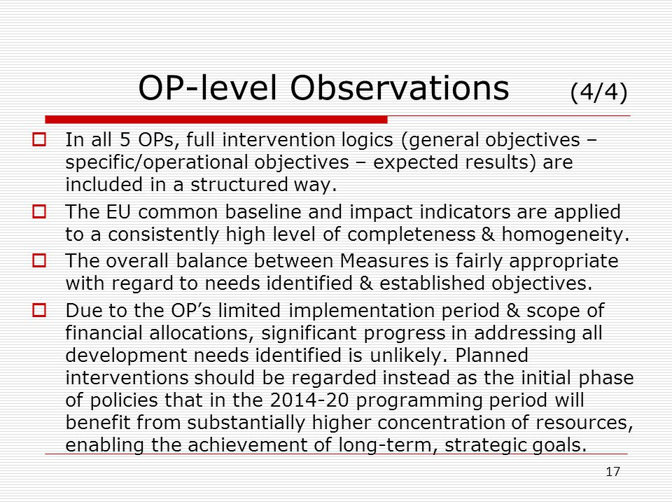 OP-level Observations (4/4)