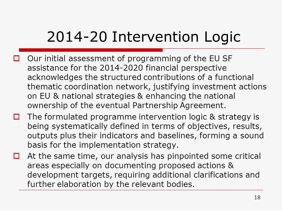 2014-20 Intervention Logic