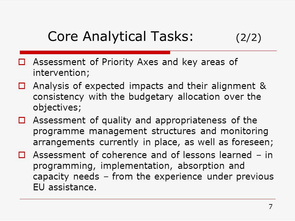 Core Analytical Tasks: (2/2)