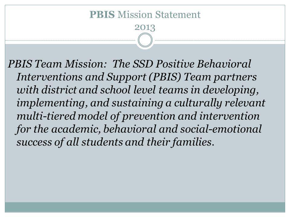 PBIS Mission Statement 2013