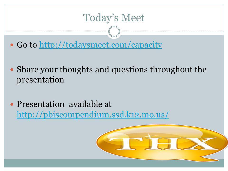 Today's Meet Go to http://todaysmeet.com/capacity