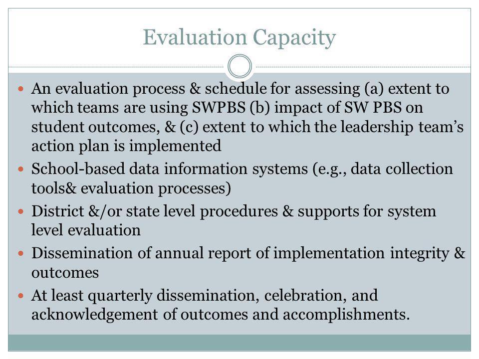 Evaluation Capacity