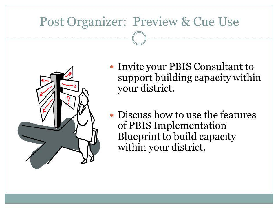 Post Organizer: Preview & Cue Use