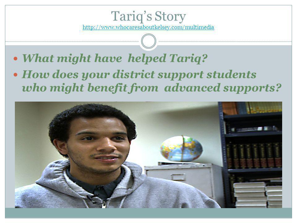 Tariq's Story http://www.whocaresaboutkelsey.com/multimedia