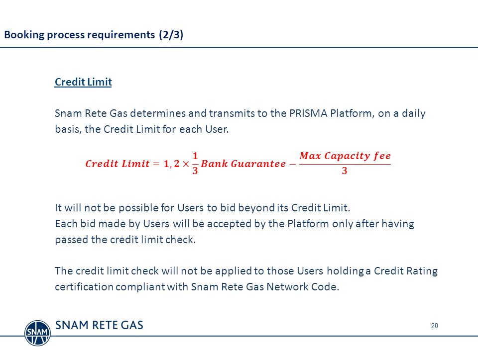 Booking process requirements (2/3)