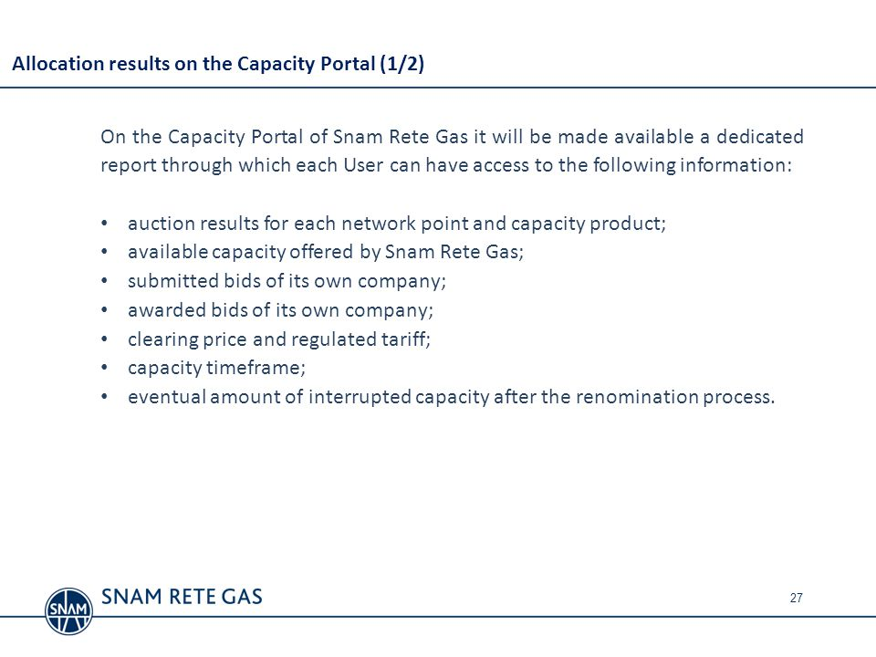 Allocation results on the Capacity Portal (1/2)