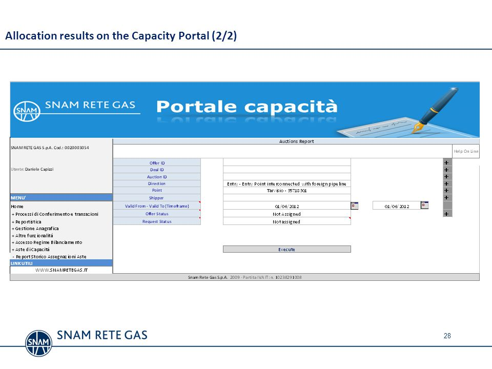 Allocation results on the Capacity Portal (2/2)