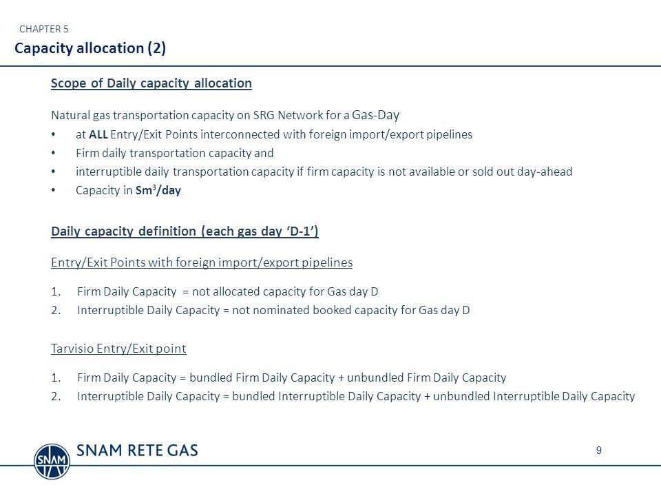 Capacity allocation (2)