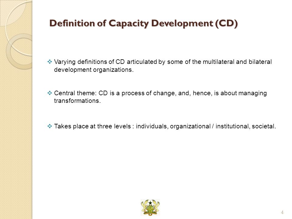 Definition of Capacity Development (CD)