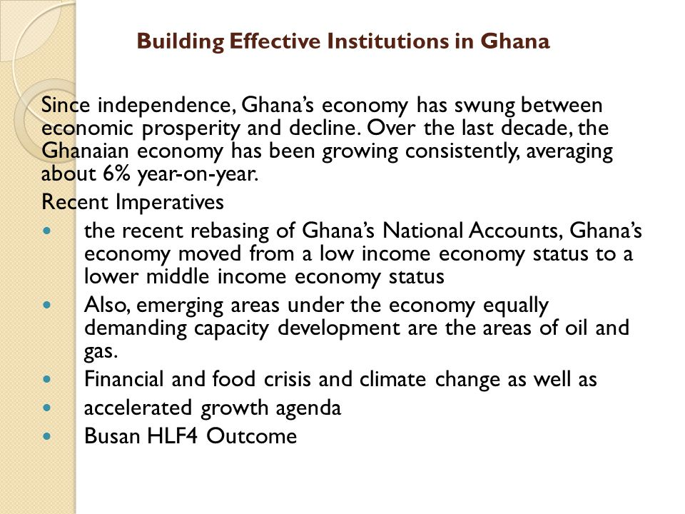 Building Effective Institutions in Ghana