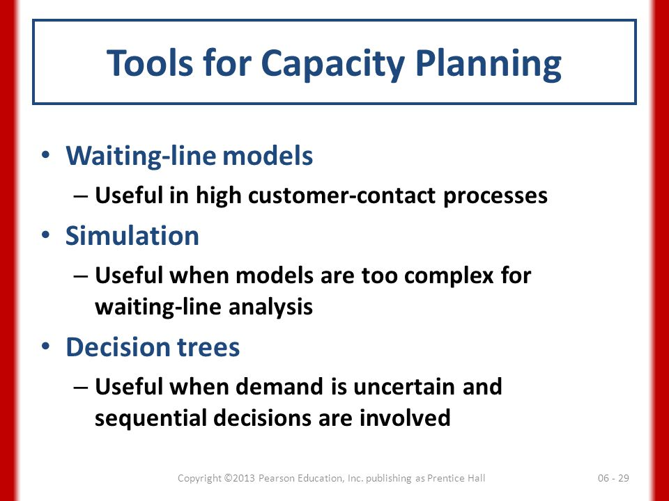 Tools for Capacity Planning