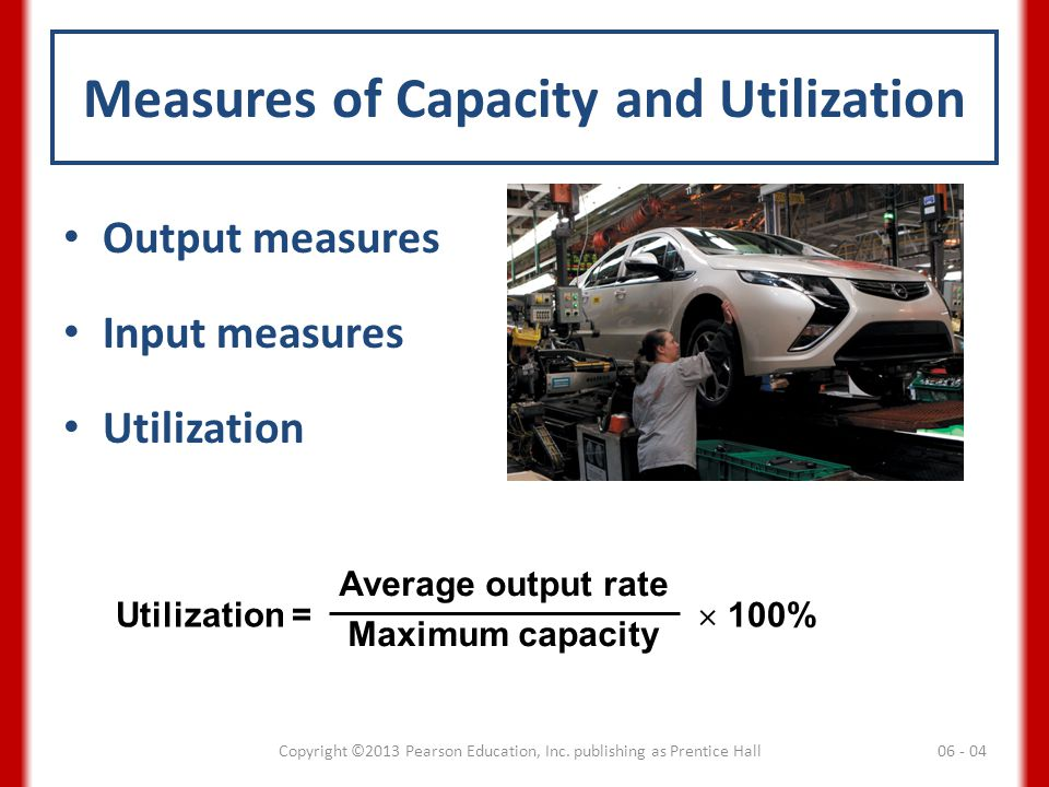Measures of Capacity and Utilization