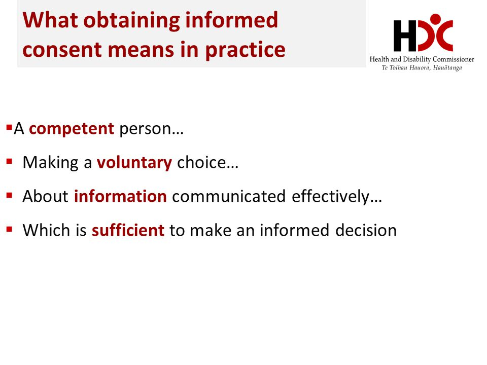 What obtaining informed consent means in practice
