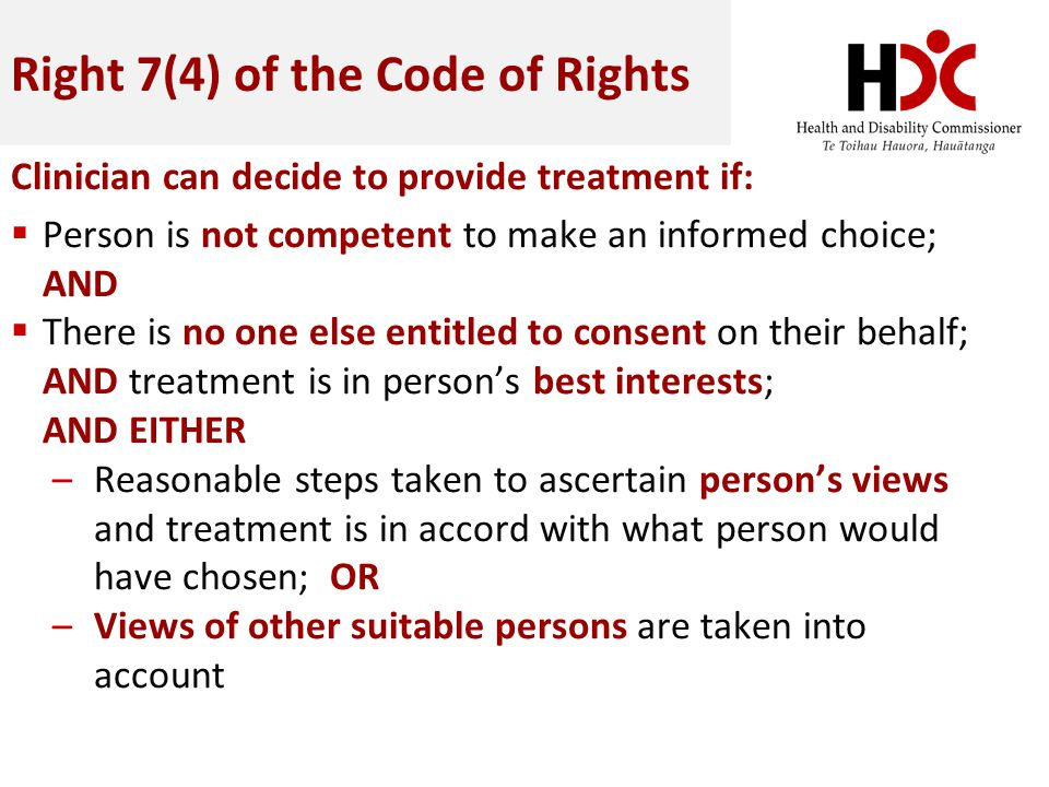 Right 7(4) of the Code of Rights
