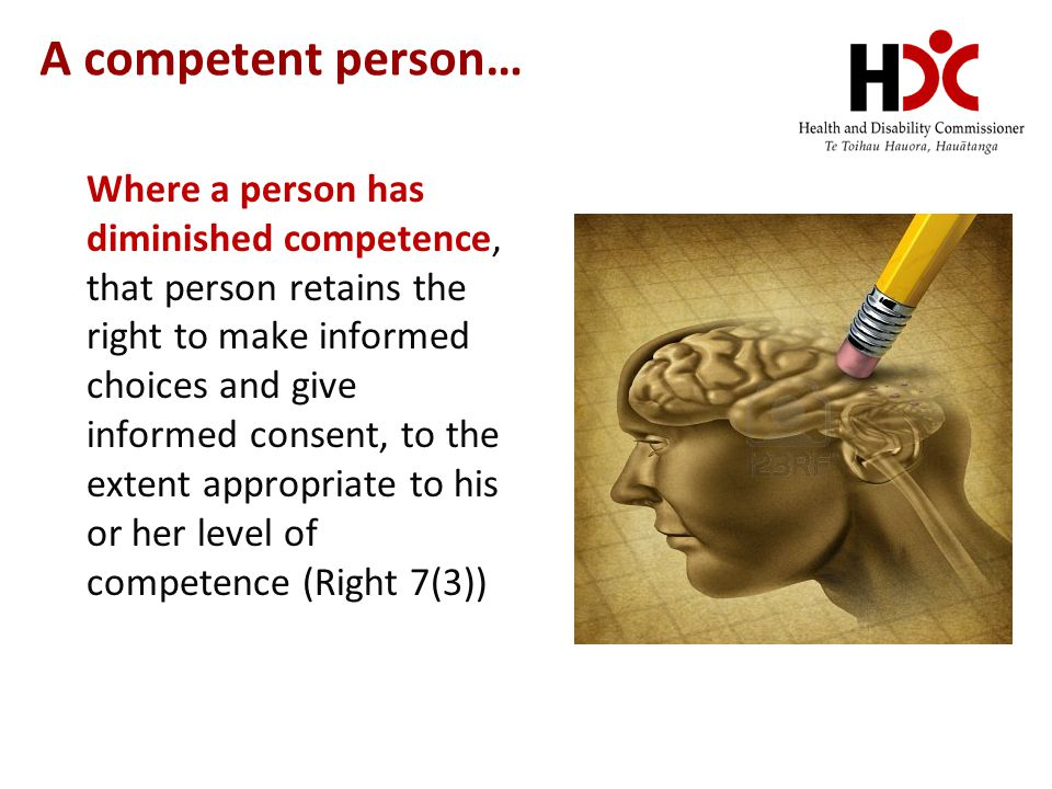 A competent person…