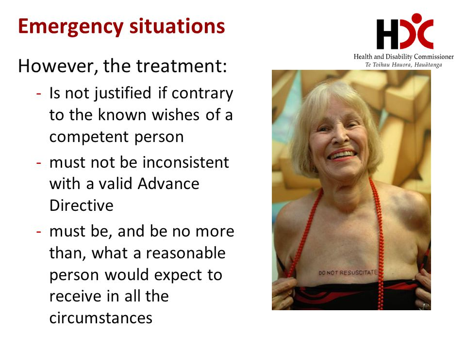 Emergency situations However, the treatment:
