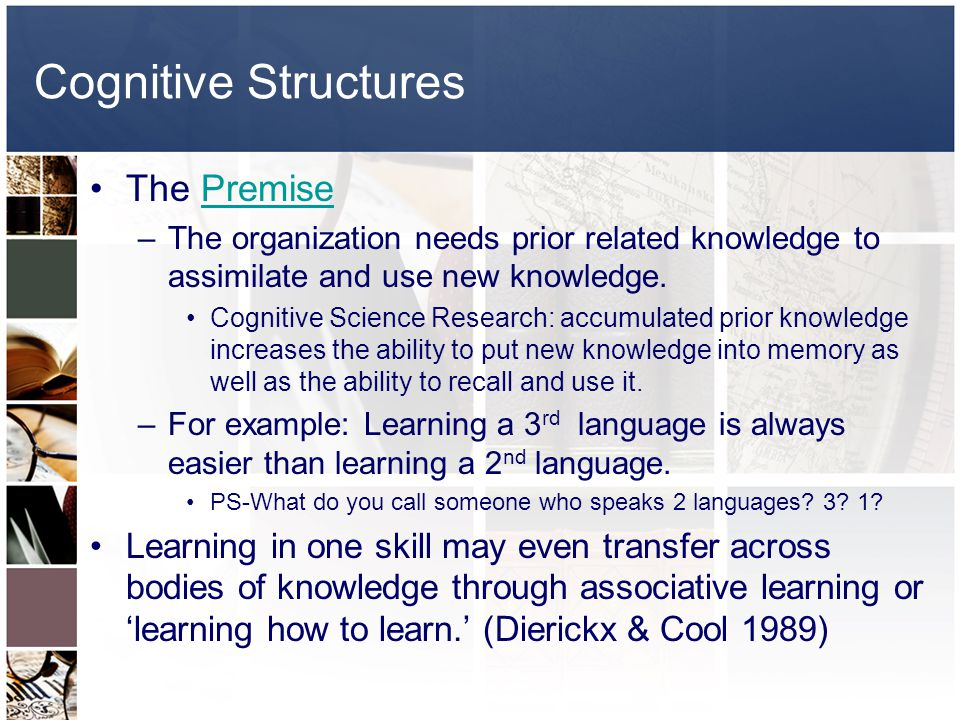 Cognitive Structures The Premise