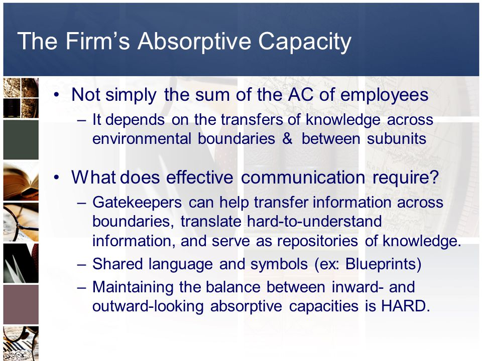 The Firm's Absorptive Capacity