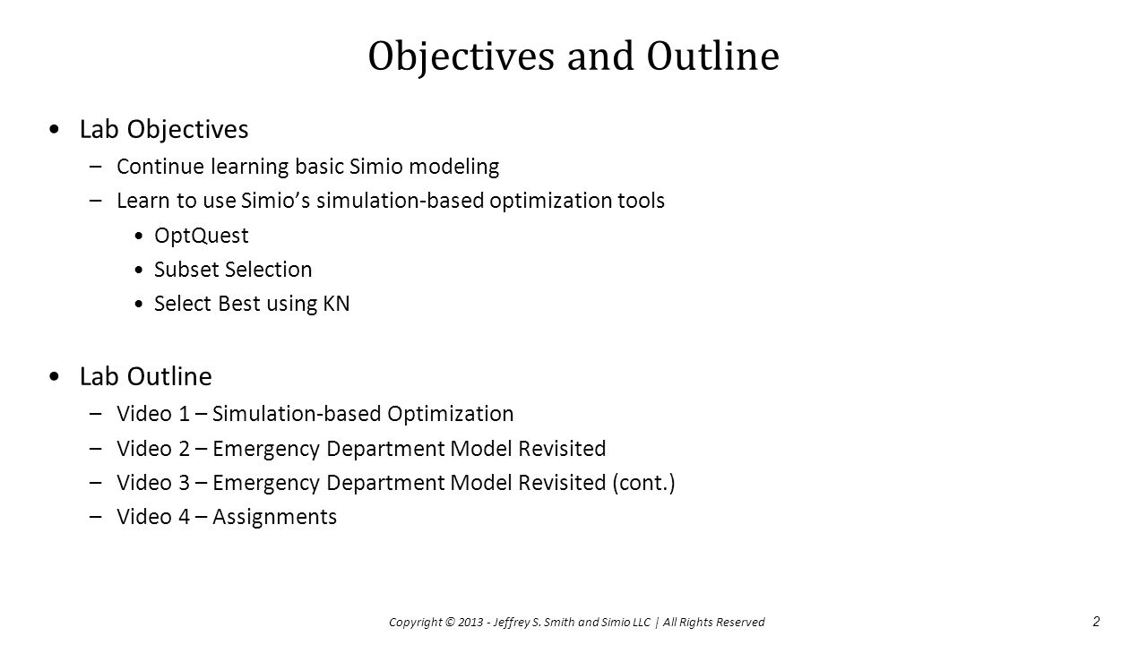 Objectives and Outline