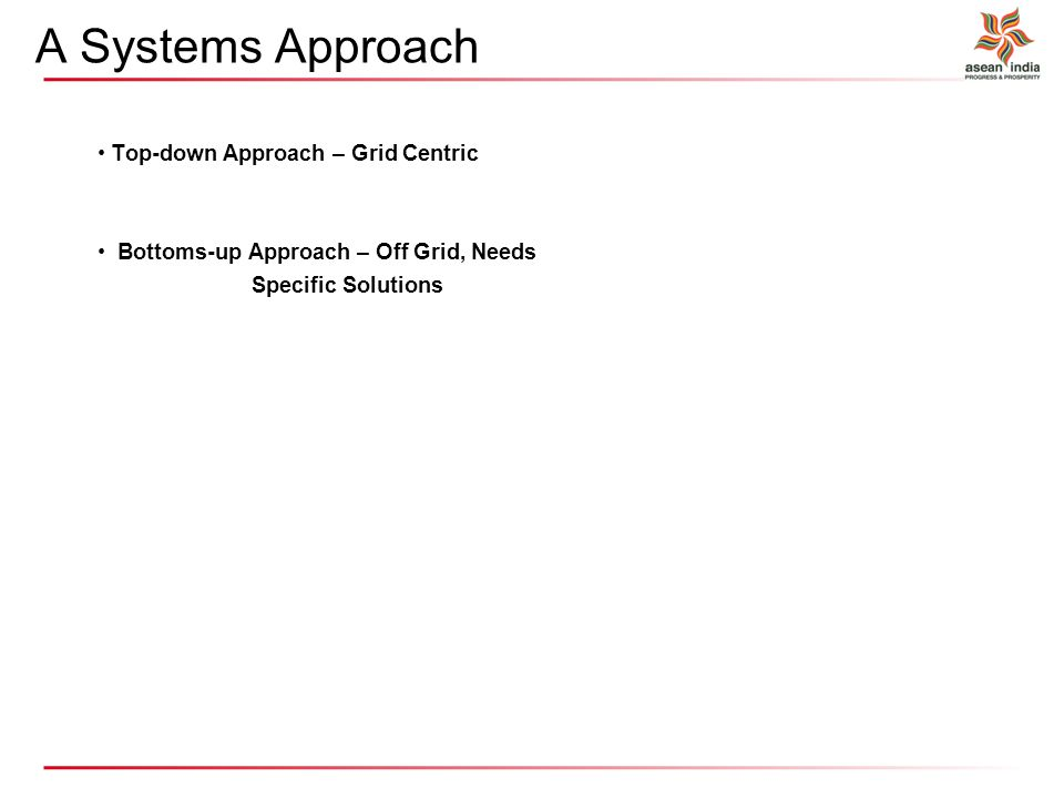 A Systems Approach Top-down Approach – Grid Centric