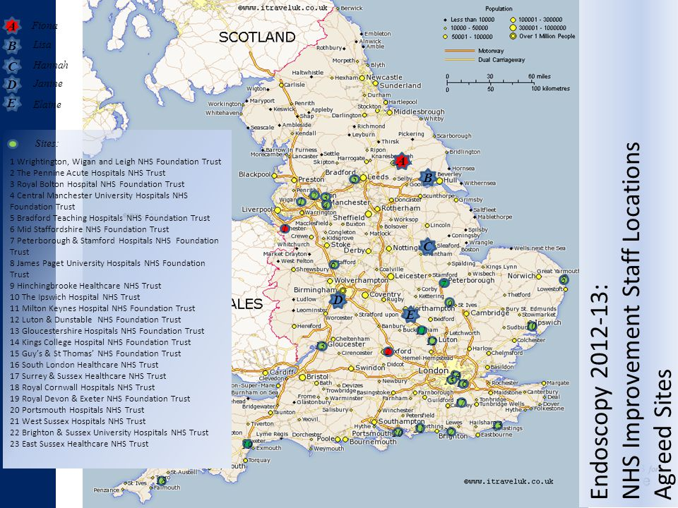 NHS Improvement Staff Locations