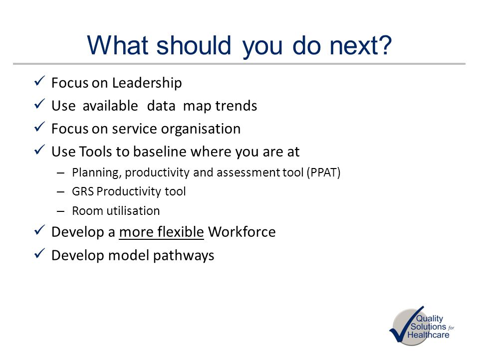 What should you do next Focus on Leadership