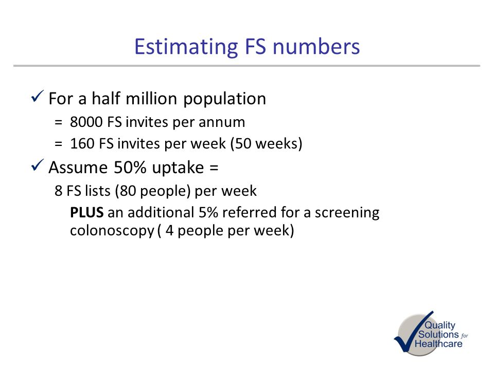 Estimating FS numbers For a half million population
