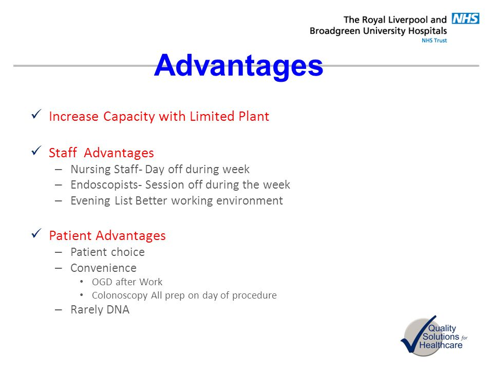 Advantages Increase Capacity with Limited Plant Staff Advantages