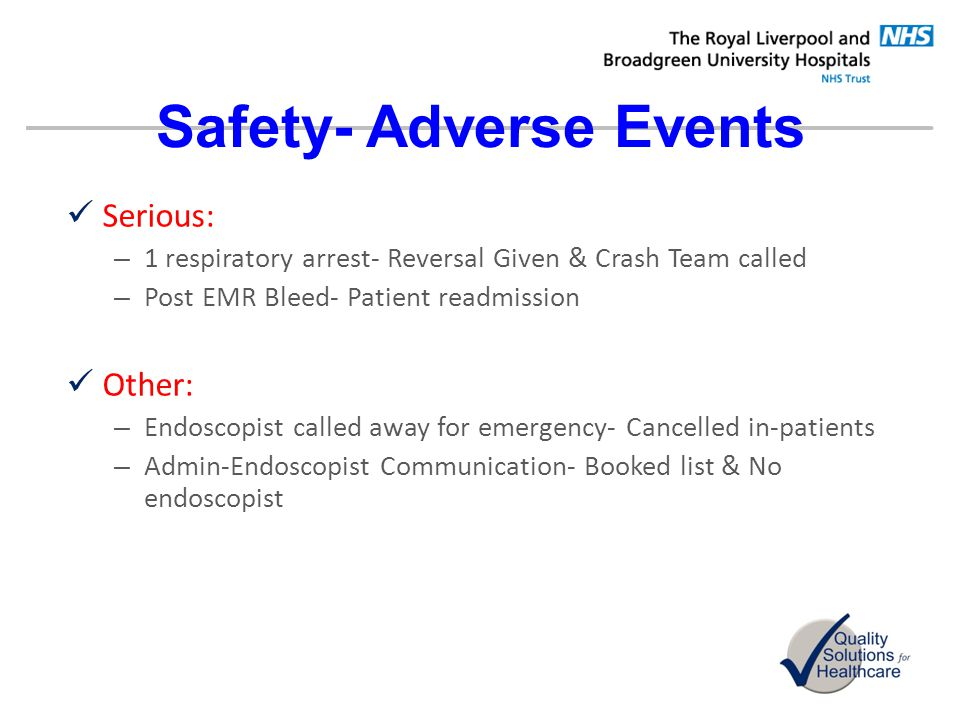 Safety- Adverse Events