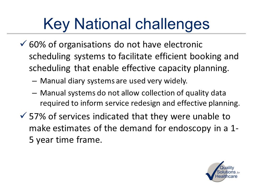 Key National challenges