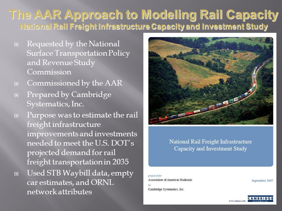 The AAR Approach to Modeling Rail Capacity