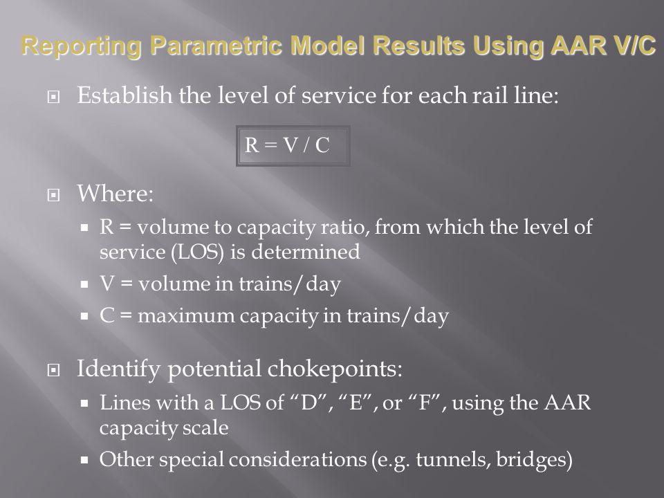 Reporting Parametric Model Results Using AAR V/C