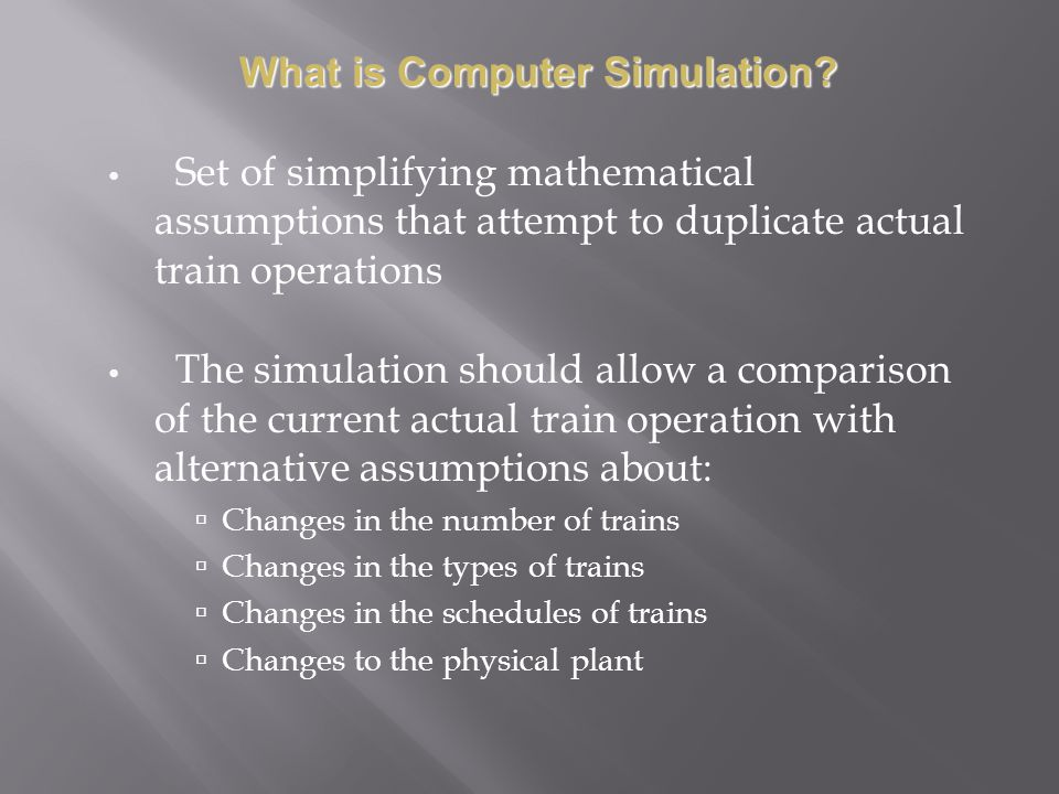 What is Computer Simulation