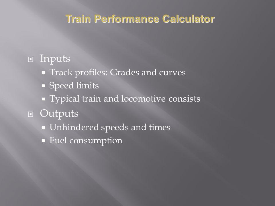Train Performance Calculator