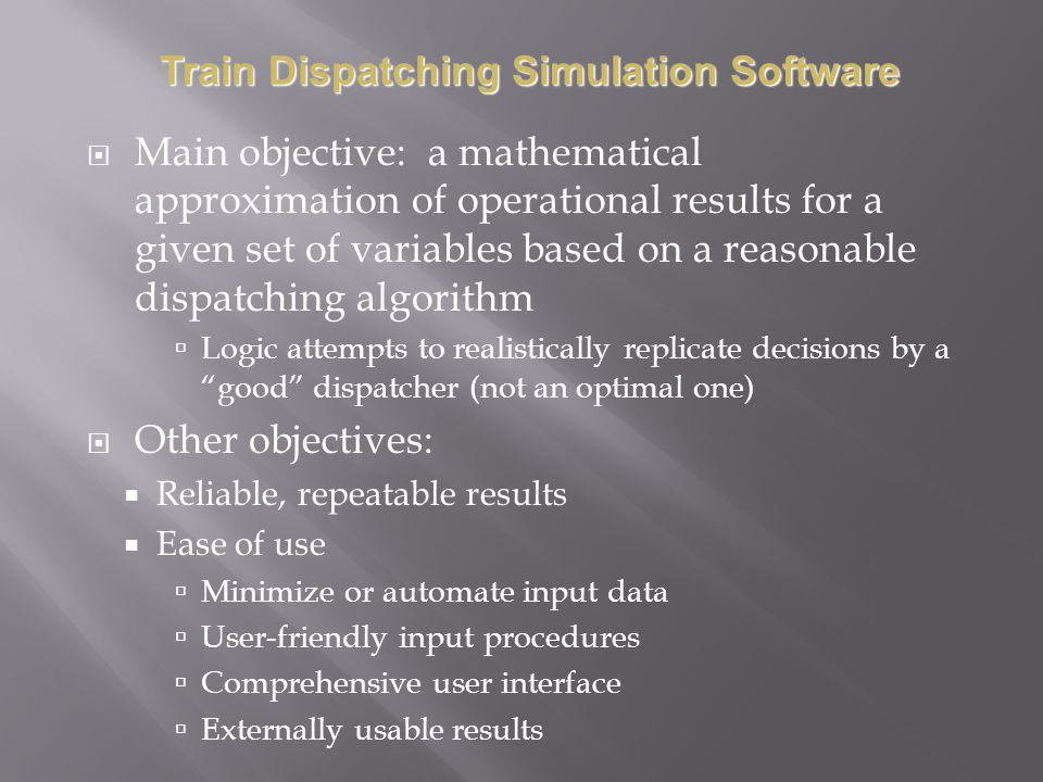 Train Dispatching Simulation Software