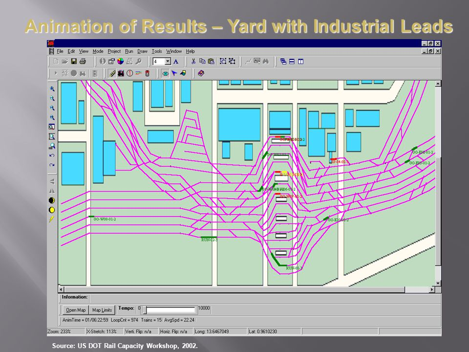 Animation of Results – Yard with Industrial Leads