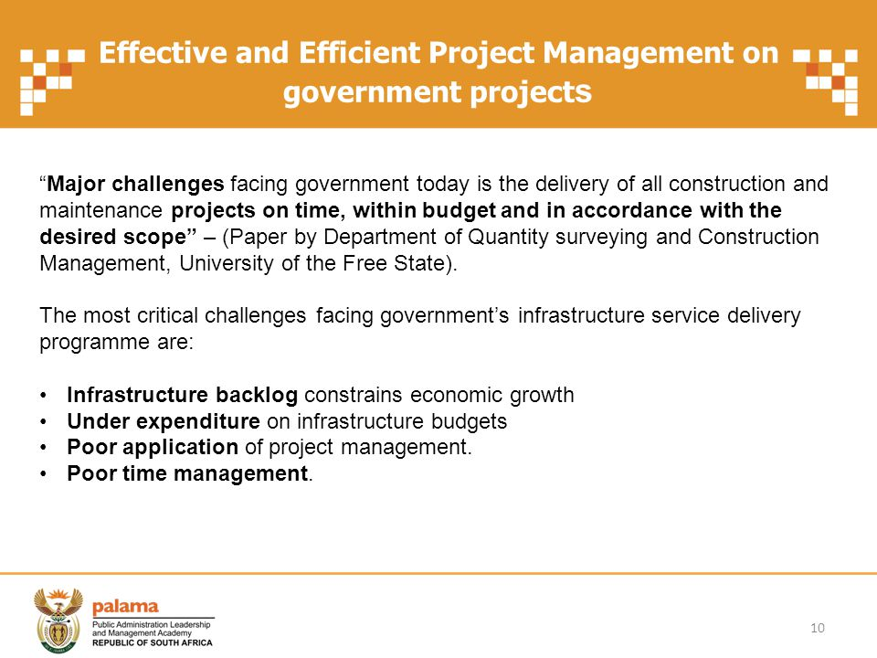 Effective and Efficient Project Management on