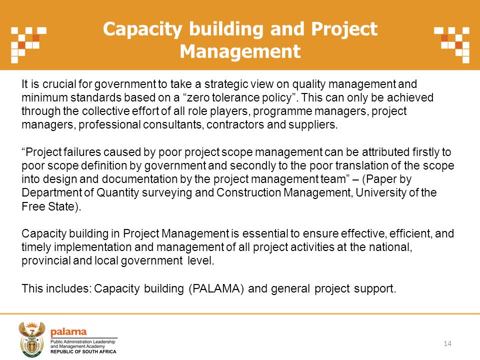 Capacity building and Project Management