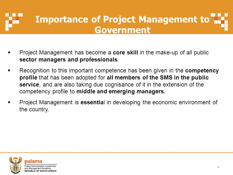 Importance of Project Management to Government